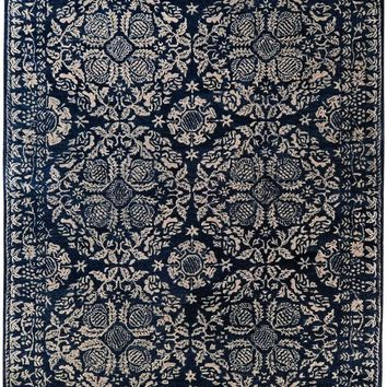 Smithsonian Medallion and Damasks Area Rug Blue