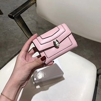 HCXX 19June 531 Bvlgari Fashion Multifunctional Wallet pink
