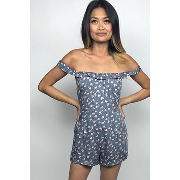 She's A Babe Off the Shoulder Romper