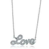 """BERRICLE Sterling Silver Cubic Zirconia CZ Love Wedding Fashion Pendant Necklace 16"""" + 2"""" Extender"""