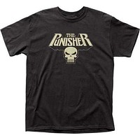 Marvel Comics Mens The Punisher Glowing Logo T-Shirt