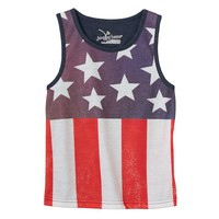 Jumping Beans American Flag Subliminated Tank - Toddler