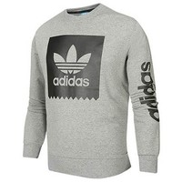 ADIDAS 2018 autumn and winter new sports sweater pullover grey
