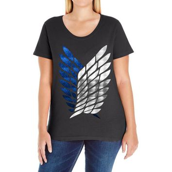 Attack On Titan Ladies Curvy T-Shirt