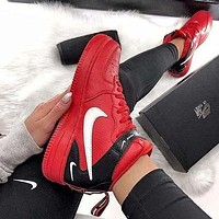 Nike Air Force 1 New Fashion Hook Print High Top Couple Shoes