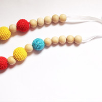 Eco-friendly Babywearing Necklace, Natural Teething Necklace