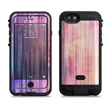 The Vibrant Fading Purple Fabric Streaks  iPhone 6/6s Plus LifeProof Fre POWER Case Skin Kit