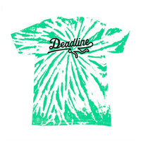 Deadline Contrast Tie Dye Sports Logo T-shirt Green