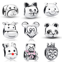 100% Real 925 Sterling Silver Animal Beads Charms Fit Pandora Bracelet
