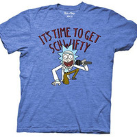 Rick And Morty It's Time to Get Schwifty Mens Adult T-shirt