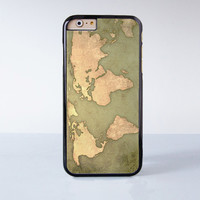 Vintage World Map Design Plastic Case Cover for Apple iPhone 6 6 Plus 4 4s 5 5s 5c