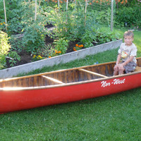 Beautiful 16 Foot Large Cedar and Canvas Canoe... Nor West... Seats up to 4...