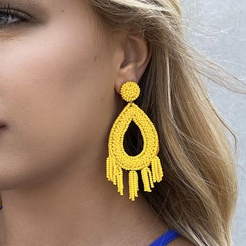 Beaded & Bright Chandelier Earrings