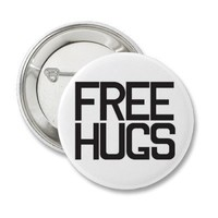 Free Hugs Pinback Button from Zazzle.com