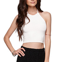 Sunbleached Abbey Smocked Back Halter Top at PacSun.com