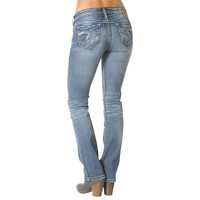 Silver Jeans Tuesday Low Slim Bootcut Jeans For Women 33 Inseam