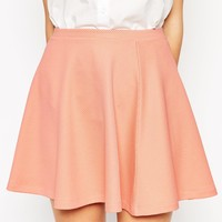 ASOS Skater Skirt in Texture at asos.com