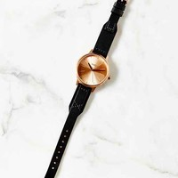 Nixon Kensington Leather Rose Gold Watch