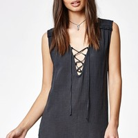 Billabong For You Lace-Up Tunic Dress at PacSun.com