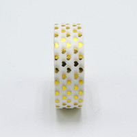 Golden Heart Foil Washi Tape Scrapbooking Tools Cute Decorative Adhesiva Decorativa Japanese Stationery Washi Tapes Mask