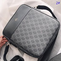 GUCCI & Fendi Fashion new  more letter print leather couple business casual crossbody bag shoulder bag briefcase bag 2#