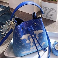 LV New fashion monogram leather shoulder bag crossbody bag handbag Blue