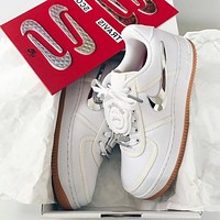 Nike Air force 1 new canvas silver logo men and women casual shoes