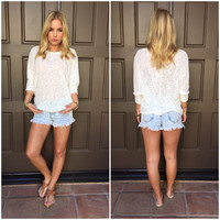 Summer Knit Top - Ivory