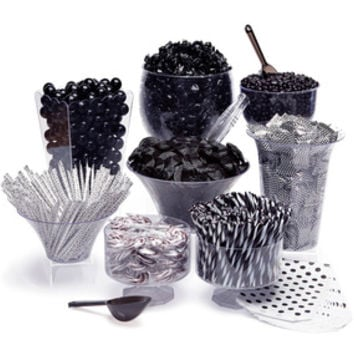 Black Candy Buffet Kit: 25 to 50 Guests