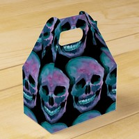 Halloween Take Out Favor Box - Skull Design