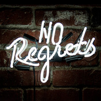 I liked this design on #Fab. No Regrets Neon Sign