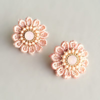 Peach Lace Earrings