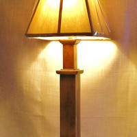 Sophia Handmade Wood Mission-Style Candlestick Lamp Table Lamp Accent Lamp USA Hi-Life Furniture