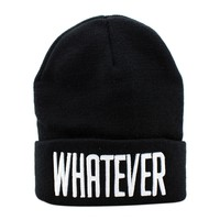 Winter Black Whatever Beanie Hat And Snapback Men And Women Cap17