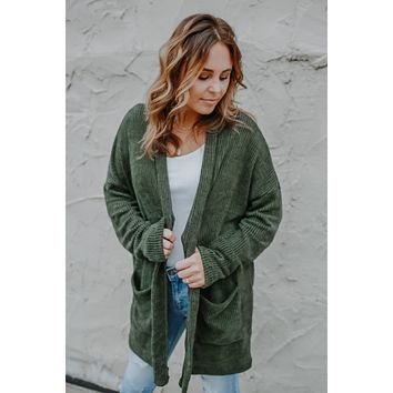 Simply Irresistible Cardigan - Olive