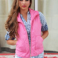 Only Way To Be Vest {Dark Pink}