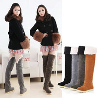 Women's Winter Anti-skidding Snow Boots Over-the-Knee Booties = 1945706308