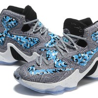 nike zoom lebron james 13 camouflage illustration basketball shoes-1
