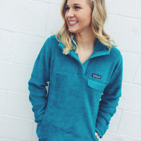 Patagonia Women's Re-Tool Snap-T Fleece Pullover- Epic Blue