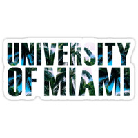'University of Miami' Sticker by Jessica Kleman