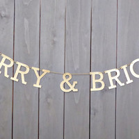 Merry & Bright Banner, Gold Christmas Banner, Christmas Banner, Glitter Gold Decor, Christmas Garland