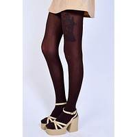 Deadstock Brown Opaque Tights