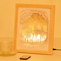 LED desk lamp Solid frame night light Exotic atmosphere bulb Home decorative table lamp photo frame
