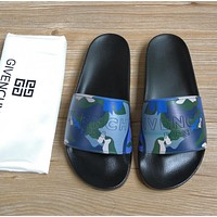 Givenchy 2020 New slippers Black / camouflage