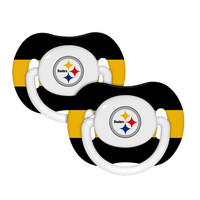 Baby Fanatic 2-Pack Pacifiers - Pittsburgh Steelers