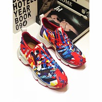 CL Christian Louboutin Women's Leather Fashion Sneakers Shoes