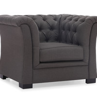 Nob Hill Armchair Charcoal Gray