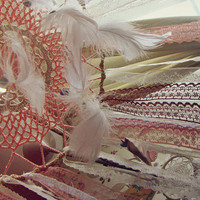 Bohemian Dreamcatcher Baby Crib Mobile - Baby Crip Canopy - Feathers Mobile - Gypsy Bedroom Decor - Boho Nursery - Made to Order