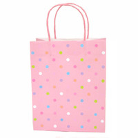 10 1/2W x 13H x 5 1/2G Large Printed savvy pretty dots Gift Bag/Case of 60
