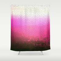 pink sparkle Shower Curtain by Steffi Louis Finds&art